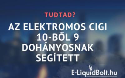 Az elektromos cigi 10-ből 9 dohányosnak segített