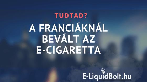 A franciáknál bevált az e-cigaretta